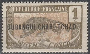 Ubangi-Chari #1 F-VF Unused (V3108)