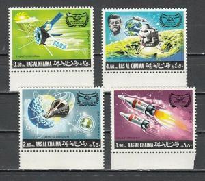 Ras Al Khaima, Mi cat. 317-320 A. Pres. John Kennedy & Space issue.
