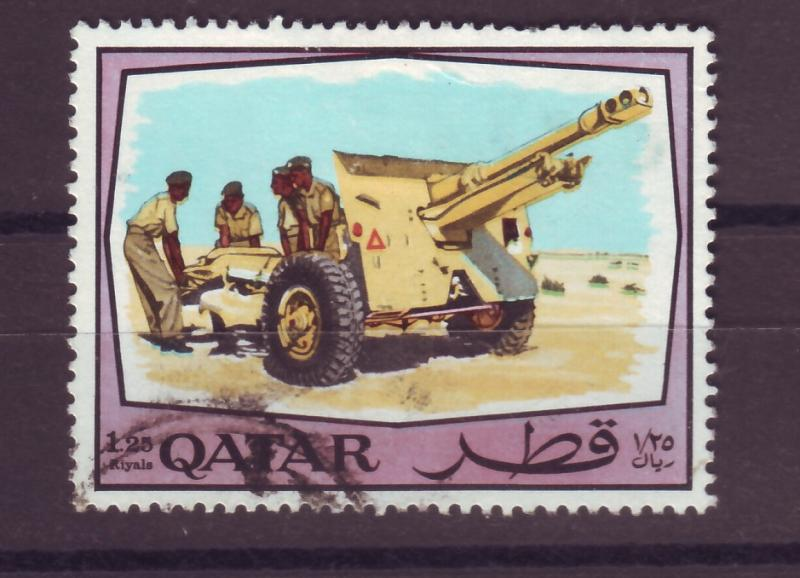 J14977 JLstamps 1969 qatar part of set used #176 military