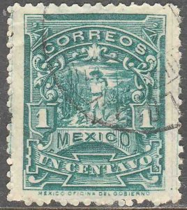 MEXICO 242 1¢ MULITA WMK CORREOSEUM USED. F-VF. (147)