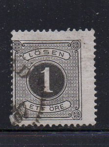 Sweden Sc J12 1880 1  ore postage due stamp used