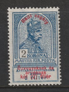Hungary a MH 2k from the 1914 War Charity set