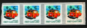 US  3522 MNH WOODY WAGON STRIP OF 4