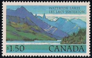 Canada #935 1.50Dollars Wateron Lakes mint OG NH XF