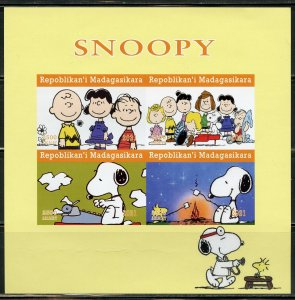 MADAGASCAR 2021 SNOOPY IMPERF SHEET MINT NEVER HINGED