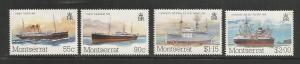 Montserrat MNH sc# 539-42 Ships 2012CV $2.20