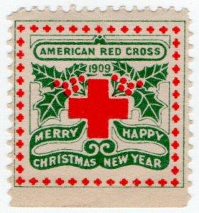 (I.B) US Cinderella : Red Cross Christmas Seal (1909)