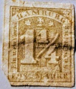 Hamburg 8b unused  F cv  $162.00