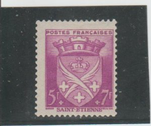 France  Scott#  B146  MH  (1942 Arms of St. Etienne)