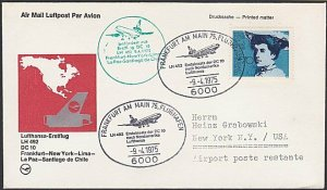 GERMANY 1975 Lufthansa first flight cover to New York.......................F955