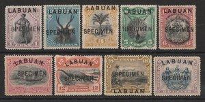 LABUAN : 1894 Pictorial set 1c-24c, SPECIMEN.