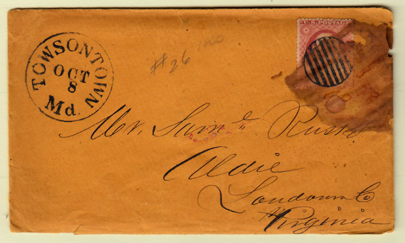 United States 1860 Cover with contents probably #65, Please see the description