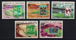 Upper Volta Football 5v 1977 CTO SG#469-473 MI#700-704