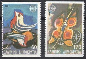 1989 Greece 1721D-1722D Europa Cept