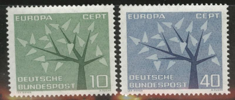 Germany Scott 852-853 Europa 1962 set