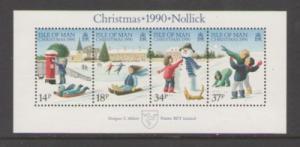 Isle of Man Sc 439a 1990 Christmas stamp sheet mint NH