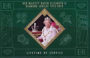 Isle of Man --2012-  QUEEN ELIZABETH Diamond Jubilee  MNH  Sheet  # 1485