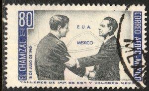MEXICO C282, US-Mex Chamizal Treaty JFK-Lopez Mateos Used. VF.(1161)