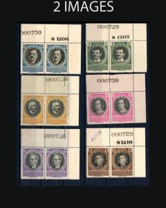 VINTAGE:CUBA 1956 OGNH #PRS 553-556,C131-133,E21 LOT# 1956OK