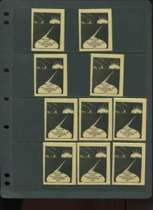 VINTAGE LOT OF 10 1931 MAGIC Poster Stamps SOCIETY OF AMERICAN (L1110)
