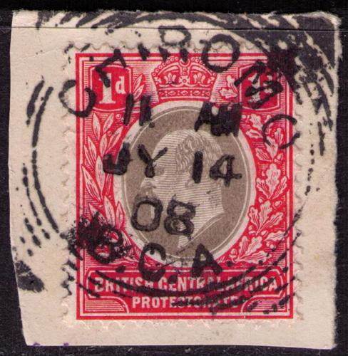 British Central Africa #70 Used VF  Chiromo Cat $ 3.50