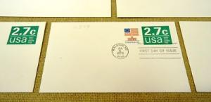 U579 2.7c U.S. Postage Envelopes qty 5