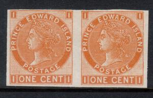 Prince Edward Island #11a Mint Fine - Very Fine Imperforate Pair Unused (No Gum)