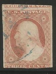 U.S. Scott #11a - Used - Position 68L Three Rows Plate 3