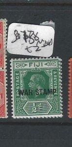FIJI   ISLANDS   (P2306B)  KGV  WAR TAX 1/2D  SG 138      MNH