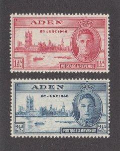 Aden Scott #28-29 MNH