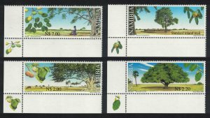 Namibia Trees with Nutritional Value 4v Corners SG#873-876