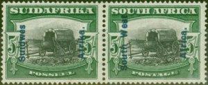 South West Africa 1927 5s Black & Green SG53 Fine Mtd Mint