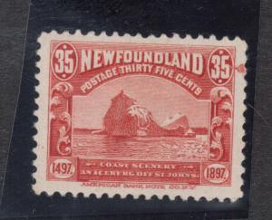 Newfoundland #73 VF Mint Kiss Print Variety