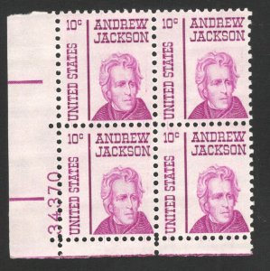 1286 Andrew Jackson Plate Block Mint/nh (Free Shipping)