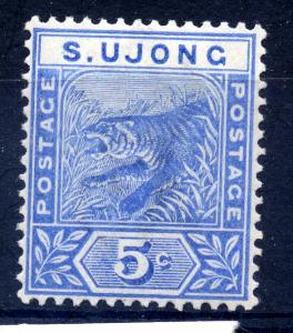 Malaya S.Ujong 1891 sg 52 5c blue, LM