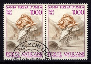 Vatican City 1982 400th Death Anniv of St Theresa of Avila, 1000l Pair [Used]