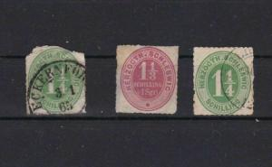 SCHLESWIG AUSTRO PRUSSIA EARLY ISSUES STAMPS CAT £100+   REF 4789