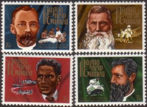 Papua New Guinea 1972 SG227-230 Early Missionaries set MNH