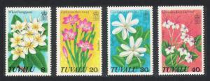 Tuvalu Frangipani Wild Flowers 4v 1978 MNH SG#101-104