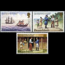 PITCAIRN 1983 - Scott# 226-8 Capt.Folger 20c-$1.2 LH