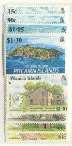 PITCAIRN ISLANDS #327-330, 332-335 MINT SETS