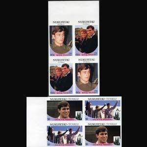 TUVALU-NUKUFETAU 1986 - Scott# 58-9 R.Wed.Imp. Set of 8 LH
