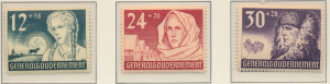 Poland, German Occupation Stamps Scott #NB5 To NB7, Mint Never Hinged - Free ...