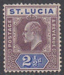 St. Lucia 52 MVLH CV $40.00