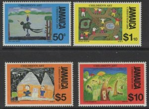 JAMAICA SG798/801 1991 CHRISTMAS, CHILDRENS PAINTINGS MNH