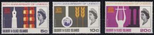 Gilbert and Ellice Islands 129-131 MNH (1966)