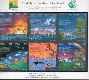 PALAU 303 MNH S/S SCV $14.00 BIN $8.40 Genesis - Creation of the World