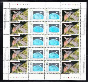 CANADA # 1441-1442 Mint NH Hologram -  1992 - Complete sheet of 20 - space