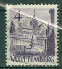 Germany - French Occupation - Wurttemberg - Scott 8N29