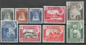 ADEN-SEIYUN SG1/9s 1942 DEFINITIVE SET TO 1r PERF SPECIMEN MTD MINT